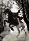"""Ghost of Sleepy Hollow"" 600ppi, 20""x14"" - First Draft."